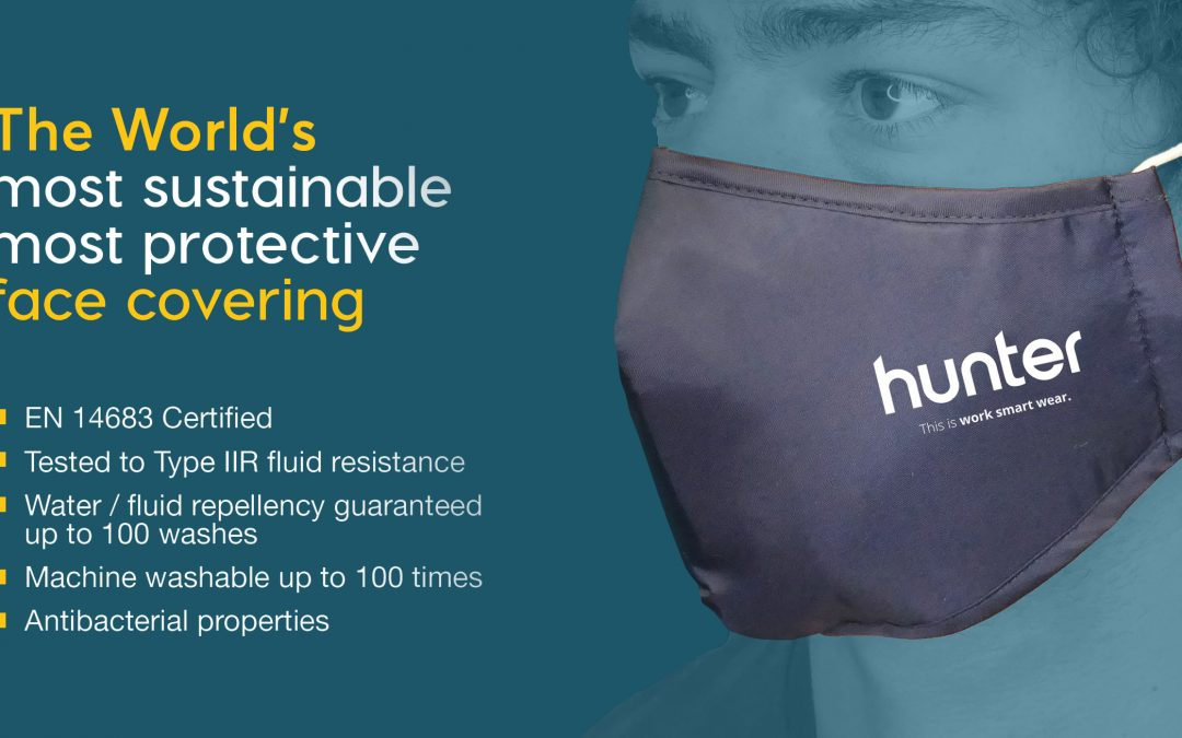 The Hunter Ultra – The World's First Type IIR Tested Reusable Face Cover Certified to EN14683 Standards and Reusable For 100 Washes