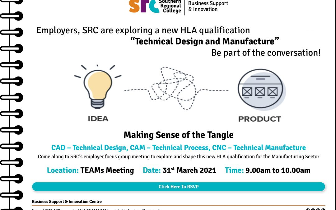 SRC's New HLA Manufacturing qualification -Employers, join the conversation – register today