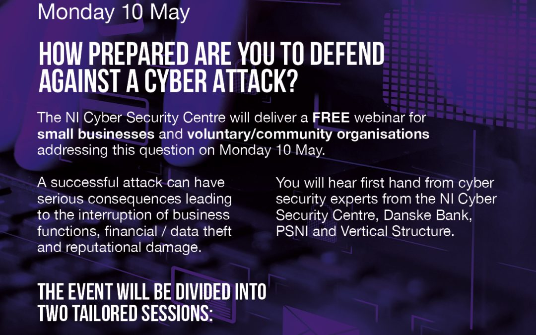 Virtual event on 10 May: Staying Cyber Secure – The Basics