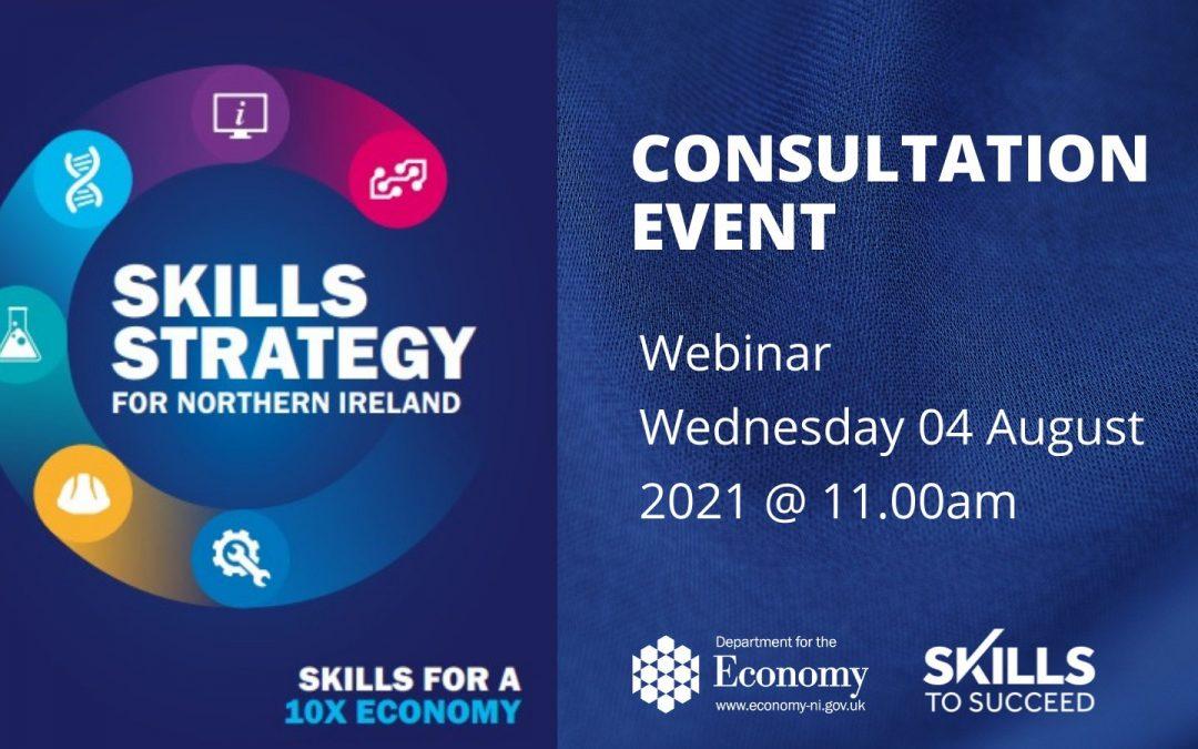 NI Skills Strategy- Consultation Webinar
