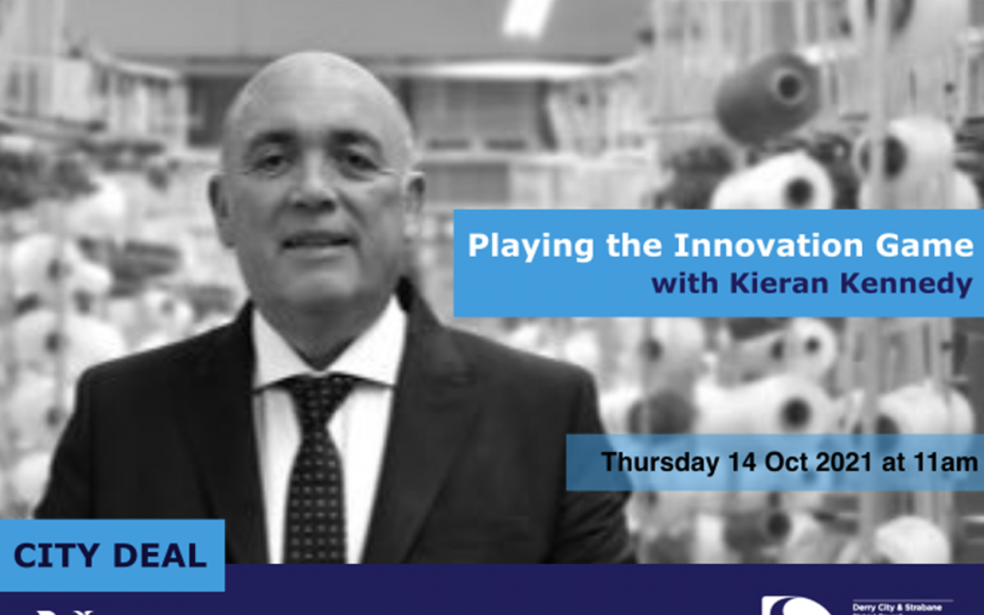 Innovation for Growth Webinar Series: Playing the Innovation Game, Thursday 14 October 2021 at 11am.